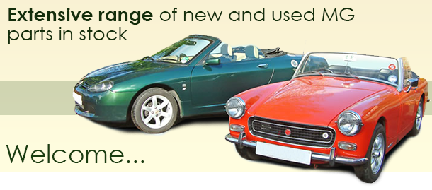 Extensive range of new and used MG parts in stock